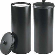 mDesign Free Standing Toilet Paper Holder Canister
