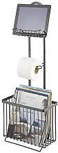 mDesign Free Standing Toilet Paper Holder Stand