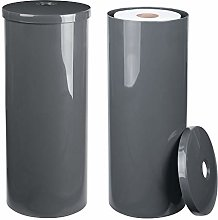 mDesign Free-Standing Toilet Paper Roll Canister