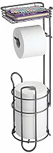 mDesign Free Standing Toilet Roll Holder –