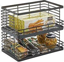 mDesign Fruit Basket – Metal Wire Basket for