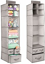 mDesign Hanging Fabric Baby Nursery Wardrobe