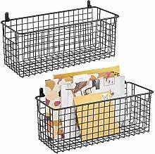 mDesign Hanging Storage Basket — Wall-Mounted