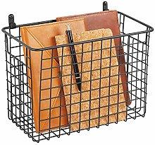 mDesign Hanging Storage Basket – Large