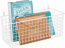 mDesign Hanging Storage Basket – Medium Size