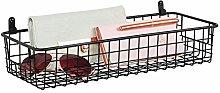 mDesign Hanging Storage Basket – Wall-Mounted
