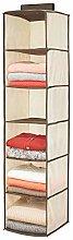 mDesign Hanging Wardrobe Organiser – Fabric