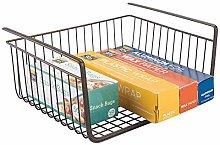 mDesign Hanging Wire Basket - Robust Wire Basket -