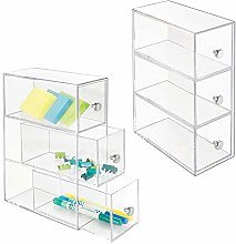 mDesign Home Office, Desk Organizer Storage