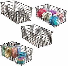 mDesign Household Wire Storage Organizer Bin