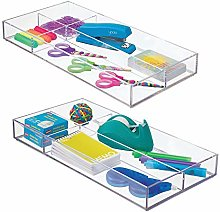 mDesign Kitchen and Desk Organiser – Set of 2