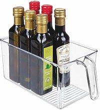 mDesign Kitchen Cabinet Organiser - Plastic Fridge