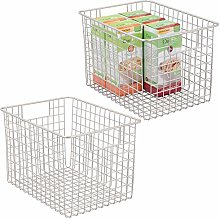 mDesign Kitchen Pantry Organizing Wire Basket with