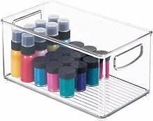 mDesign Large Storage Box for Craft Supplies –