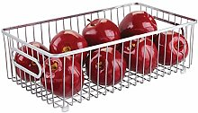 mDesign Large Wire Basket with Handles —