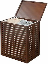 mDesign Laundry Basket – Practical Bamboo