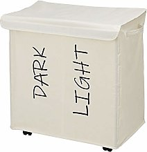 mDesign Laundry Basket with 2 Compartments and