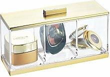 mDesign Makeup Storage – Makeup Box with 3