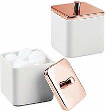 mDesign Metal Bathroom Vanity Countertop Storage