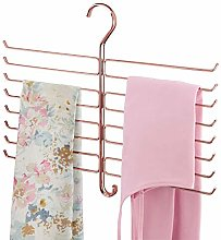 mDesign Metal Closet Rod Hanging Accessory Storage