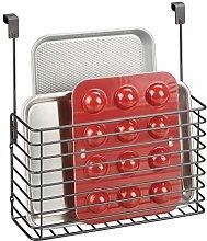 mDesign Metal Over Cabinet Kitchen Storage