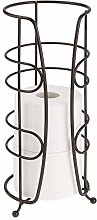 mDesign Metal Upright Tall Toilet Paper Holder