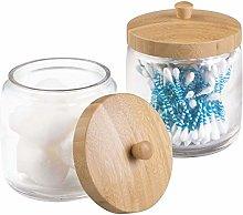 mDesign MetroDecor Bathroom Vanity Canister Jar