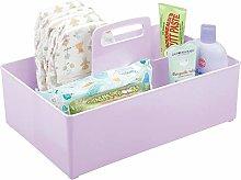 mDesign Nursery Storage Box with Handle — Extra