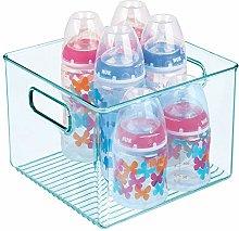 mDesign Nursery Storage Box with Handles — Deep