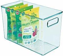 mDesign Nursery Storage Box with Handles —