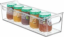 mDesign Nursery Storage Box with Handles — Slim