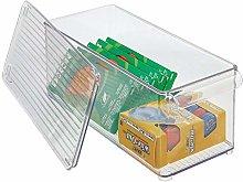 mDesign Office Supplies Box – Lidded Stackable