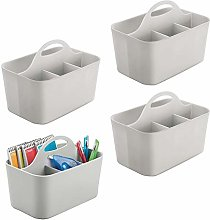 mDesign Office Supplies Desk Organizer Tote for