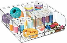 mDesign Open Storage Box for Sewing Supplies and