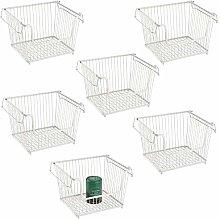 mDesign Open Wire Storage Basket for Kitchen,