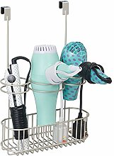 mDesign Over-Cabinet Hair Care Tools Holder for