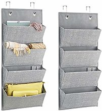 mDesign Over-Door Fabric Wardrobe Storage