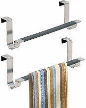 mDesign Over-the-Cabinet Towel Bar for Kitchens or