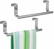 mDesign Over The Cabinet Towel Bar – Stainless