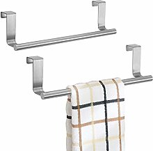mDesign Over The Cabinet Towel Bar - Stainless
