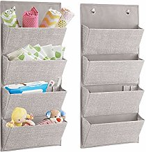 mDesign Over The Door Fabric Baby Nursery Wardrobe