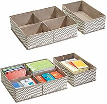 mDesign Pack of 4 Drawer Organisers with 10