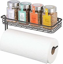 mDesign Paper Towel Holder with Spice Rack and