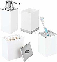 mDesign Plastic Bathroom Vanity Countertop
