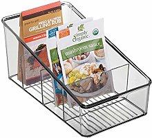 mDesign Plastic Food Packet Organiser Bin Caddy -