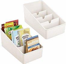 mDesign Plastic Food Packet Organizer Bin Caddy -