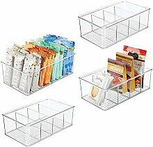 mDesign Plastic Food Storage Organizer Bin Box - 4