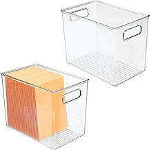 mDesign Plastic Home, Office Storage Organizer Bin