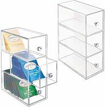 mDesign Plastic Kitchen Pantry, Cabinet,