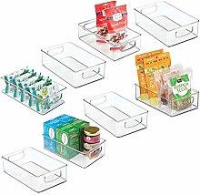 mDesign Plastic Kitchen Pantry Cabinet,